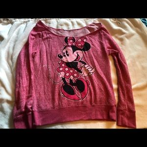 Minnie Mouse Off the Shoulder Sweatshirt
